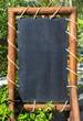 Empty blackboard (menu board) at a reastaurant