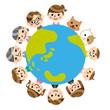 家族と地球