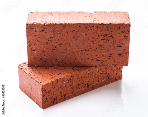 Solid clay bricks used for construction