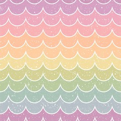 seamless rainbow color wave textured background