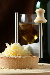 Swiss Cheese Specialty - Tete De Moine on the scraper Girolle