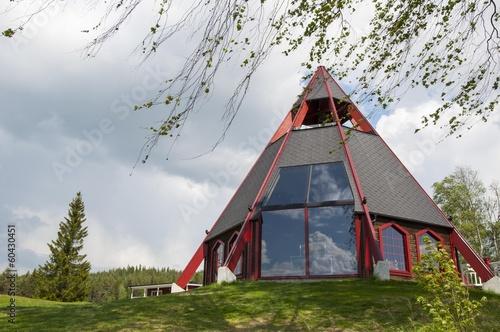 Modern church in the north of Sweden, Storforsen