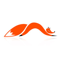Fox silhouette for your design