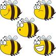Obrazy na płótnie, fototapety, zdjęcia, fotoobrazy drukowane : Cartoon Bees - Assorted