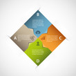Abstract square infographic
