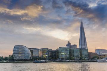 Sunset on the new London skyline