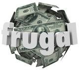 Frugal Money Ball Cheap Saving Cash Reduce Spending poster