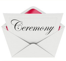 Ceremony Party Commemoration Event Invitation Envelope