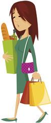 femme moderne shopping