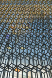 Hexagonal glass details of the facade, Concert Hall, Reykjavik
