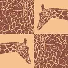 motifs de girafe beige et brun