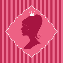 Princess silhouette.