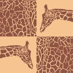 Giraffe patterns beige and brown