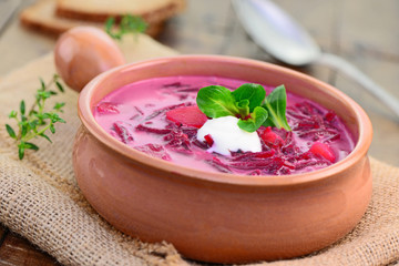 Rote Beete-Suppe