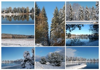 Collage Winterlandschaft