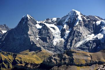 Eiger (3970m) und Mönch (4107m)