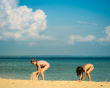 amitié sur la plage