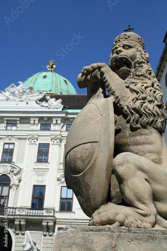 Statue of Lion near Hofburg Palace Wien