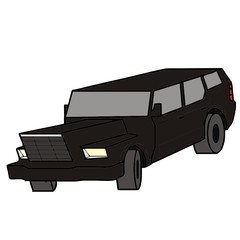 vector drawing of a jeep