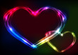 Valentine's day heart futuristic abstract space background