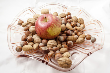 Walnuts and hazelnuts