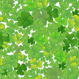 Seamless background with clovers, EPS10