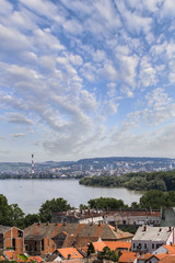 Panoramic View From Gardos Lookout on River Danube, Town of Zemu