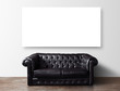 sofa and poster