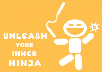 motivational quote unleash your inner ninja