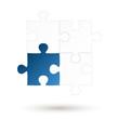 Puzzle - 4 Teile - blaue Option