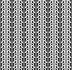 Wellen Hintergrund schwarz-weiß