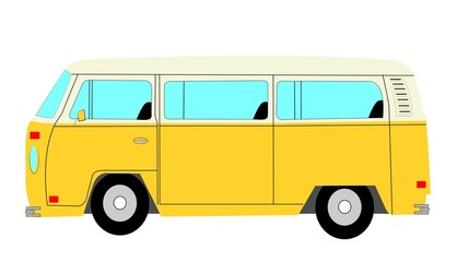 mini van bus from retro era