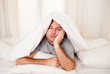 man in bed  suffering insomnia and sleep disorder