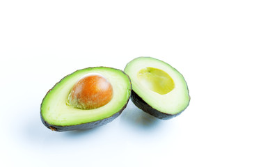 Avocado on white