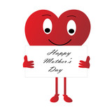 Cartoon-Mother's Day Heart Sign