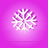 Snowflake. Paper sticker. Vector illustration.