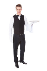 Waiter With Cloche Lid Cover