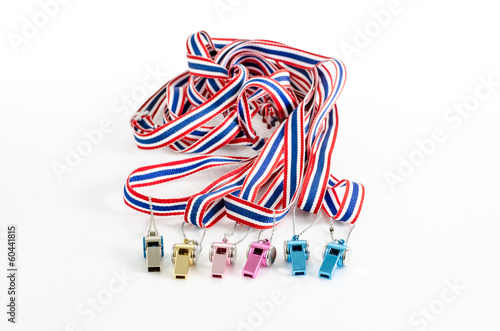multicolored  Whistle-striped flag of Thailand