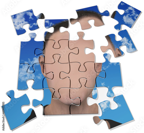 Anonymous mystery man blank face puzzle