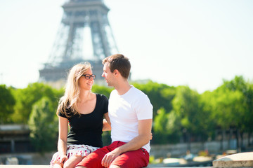 Happy couple in Paris