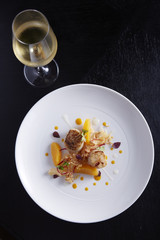 Grilled Scallop with orange salad