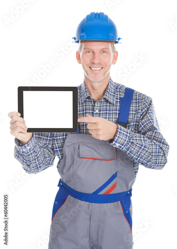 Architect Showing Digital Tablet