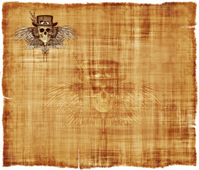 Steampunk Parchment Stationery Background