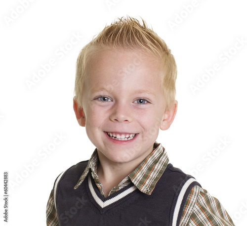 Cute Little Boy Portrait isolated on white