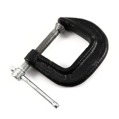 Black and silver clamp tool