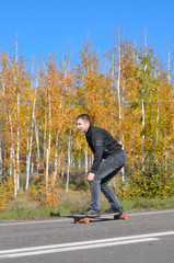 Autumn longboarding