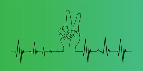 cardiogram of convalescent human