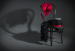 On retro chair is a cabaret dancer clothing. - 60444255