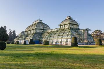 The Palmenhaus in Schonbrunn Palace Park, Vienna, Austria