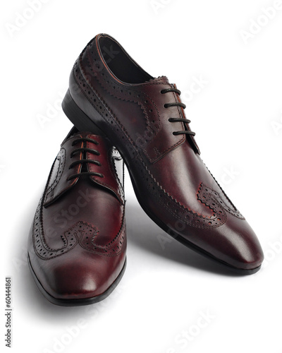 canvas print picture Pair of leather men's shoes